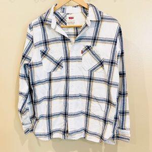 Levis | White Flannel Button-Up S